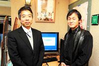 弊社山本(左)と本吉様(右)